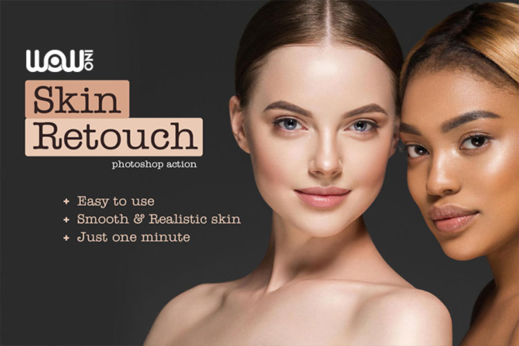 اکشن Realistic Skin Retouching PS Action