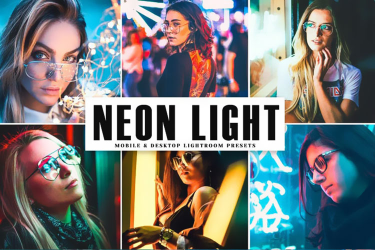دانلود پریست لایت روم Neon Light Pro