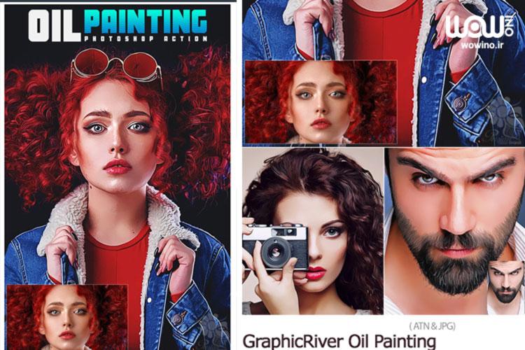 اکشن فتوشاپ GraphicRiver Oil Painting