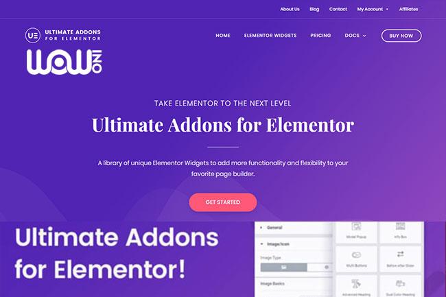 افزونه Ultimate Addons for Elementor